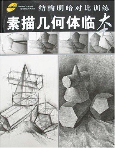 结构明暗对比训练-素描几何体临本(附盘)