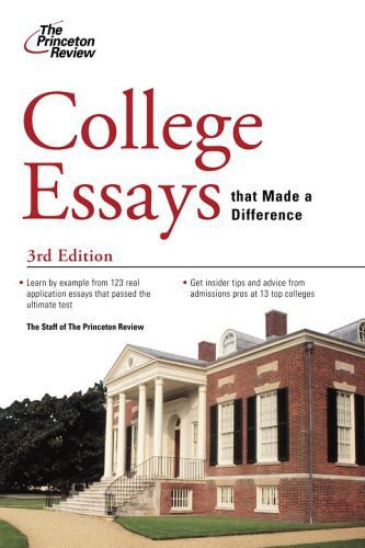 princeton review college essays book