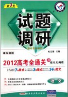 2012高考全通关3现代文阅读课标通用:语文试题调研(第3辑)