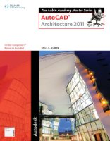 AutoCAD for Architecture 2011 Course Notes for Aubin's the Aubin Academy Master Series: AutoCAD Architecture 2011