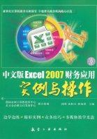 中文版Excel 2007财务应用实例与操作(附光盘1张)