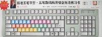 标准五笔字型五笔数码两用键盘指法练习卡