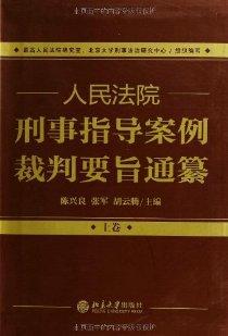 人民法院刑事指導案例裁判要旨通纂(套裝共2冊)