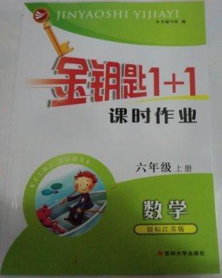 金钥匙1+1课时作业数学六年级上册国标江苏版