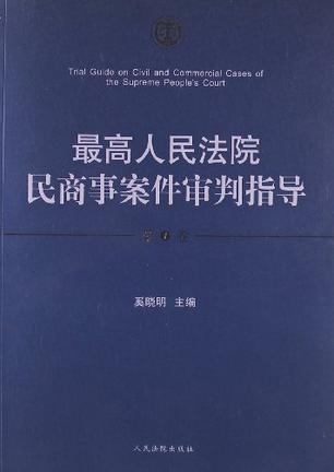 最高人民法院民商事案件审判指导(第1卷)