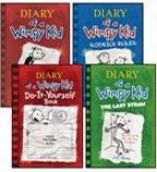 Diary of a Wimpy Kid Complete 4-Book Set