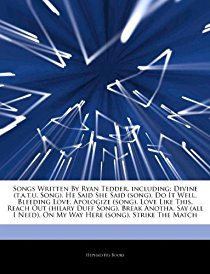Articles on Songs Written by Ryan Tedder, Includin