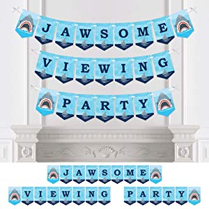 大圆点幸福鲨鱼区 - Jawsome Shark Party Bunting Banner - 派对